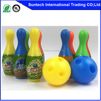 Kids Plastic Bowling Game Set 10 Pins 2 Balls Indoor Fun Sport Toy