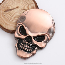 Cheap Prices Skull Emblems Badge 3D Metal Sticker Decals for Cars Trucks Motorcycle Vehicle Luggage Laptop Tablets Silver Gold