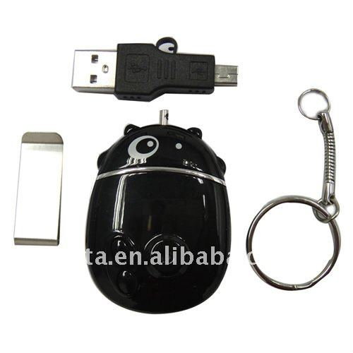 4GB 640*480 Home Security Camera Of Cow Shape Keychain CT1201