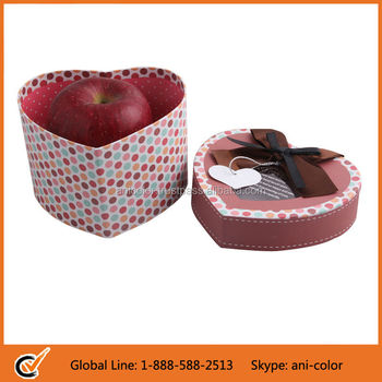 Heart Shaped Cardboard Gift Packaging Box