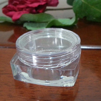 Hot sale square customized 10 ml PS plastic empty skin care cosmetic jar/ empty makeup jar/ cosmetic case