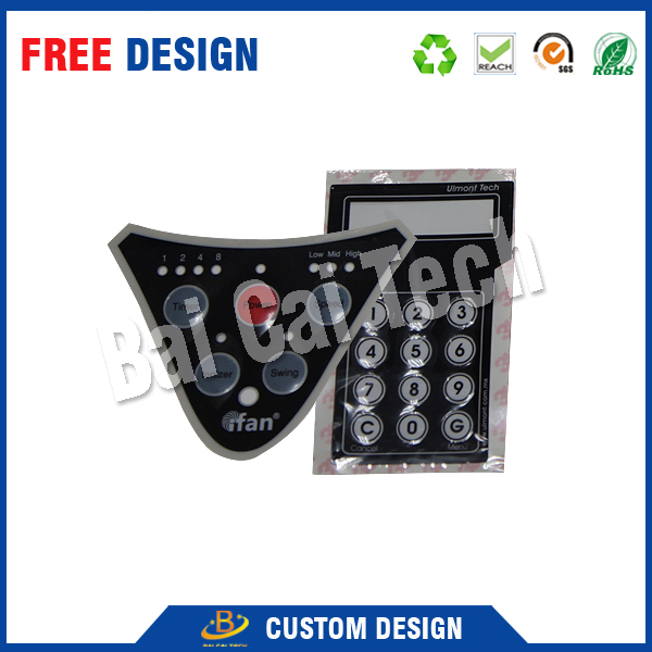 Custom 3M Adhesive Membrane Keyboard With Embossing Buttomn