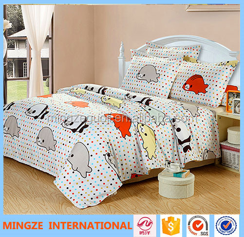 baby cotton bedding set with colourful designs kids bedding set