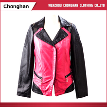 Chonghan Wholesale Custom Two-Tone Spring Woman Leather Jacket