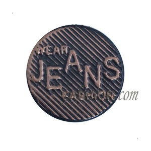 custom antique copper mens denim jeans iron buttons for accessoriesparts