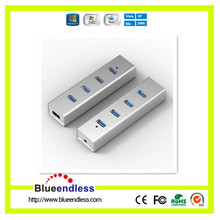 New design factory Aluminum 4 port usb hub 3.0 with man usb hub