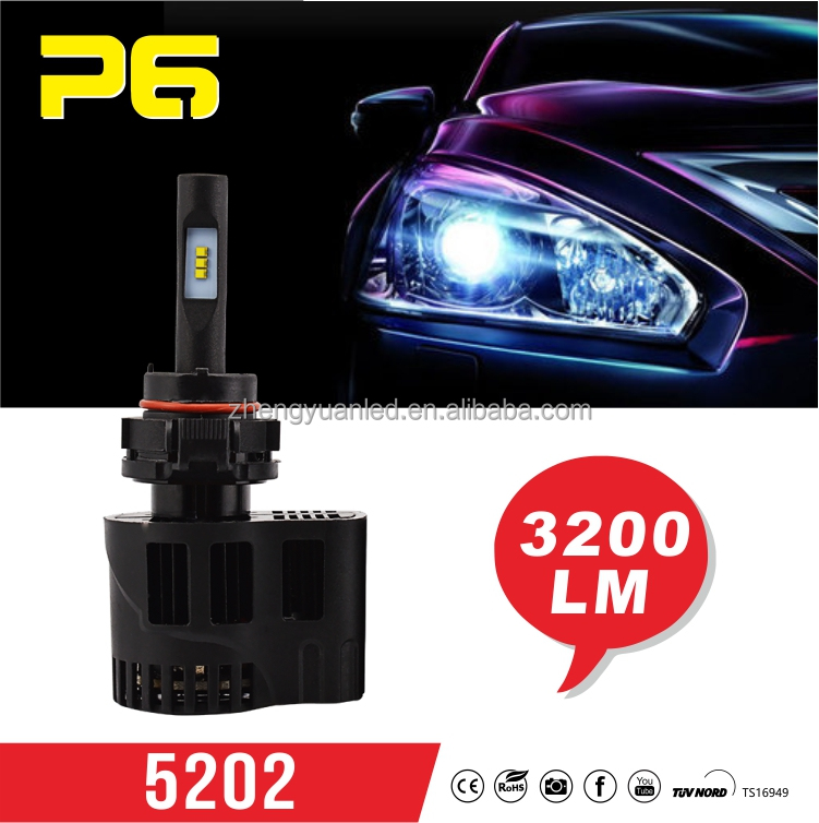 Car accessories 25w 3200lm Automobiles & motorcycles parts led headlights 5202 3000k