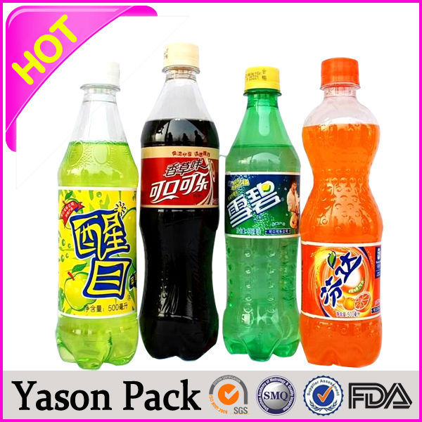 Yason road label pvc shrinking sleeve for hair oil labels pvc water indicator label