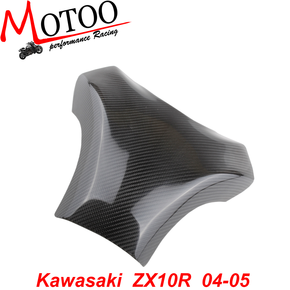 Carbon Fiber Fuel Gas Tank Cover Protector For Kawasaki ZX-10R 2004-2005