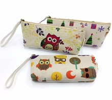 Kids Canvas Printed Animal Pencil Pouch