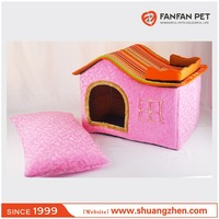pink Shaped Pet House Soft Decorative Pet Puppy Dog Warm Beds