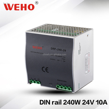 24 month warranty 240W switching power supply 24v 10a din rail power supply
