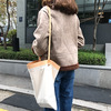 BSCI audited factory pu personality hand bag simple design and good look tote bag shopping bag