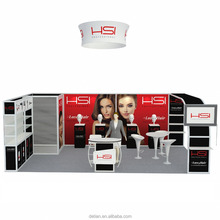 Detian Offer hair fair portable and easy install aluminum tube trade show 3*3 standard exhibition booth for expo display stand