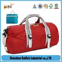 Promotional foldable travel duffle bag sports gym bags,collapsible duffel bag,light folding travel bag