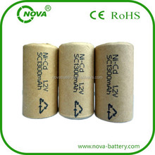 nicd batterie 1300mah rechargeable sc 1.2v battery cells power tools