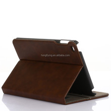 premium leather card slot stand card holder leather tablet case for ipad mini 4