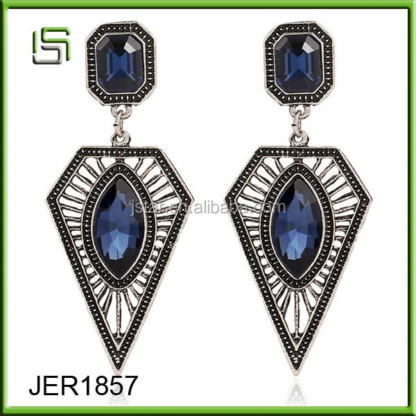 Ladies earrings designs pictures retro exaggerated crystal jewelry triangle drop earrings jewelry
