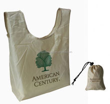 BeeGreen Fashionable 190T polyester vest shape collapsible retail shopping bags