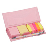 INTERWELL LKM80 Memo Pad Box, Personalized Notepads and Pens Set