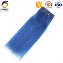 100% Virgin blue Color Hair Natural Straight Style Hair weave