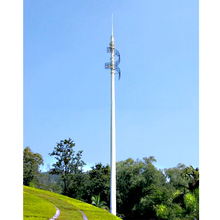 step by step monopole mobile telescopic tower mobile light tower