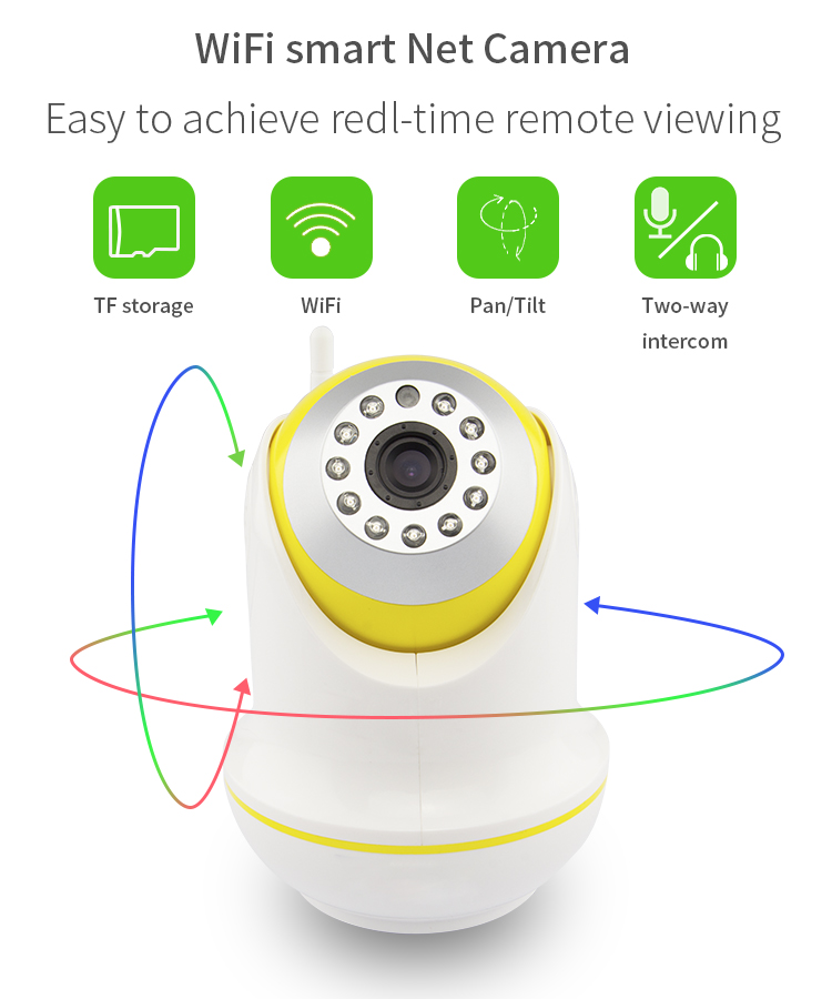 Vitevision indoor ptz network diy home security wifi wireless ip camera