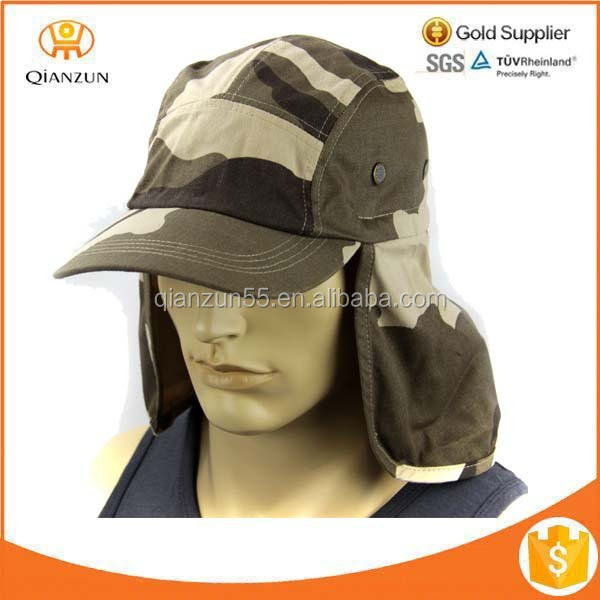 Sun Flap Cap Ear Neck Cover Military Baseball Cap Fishing Hunting Hiking Hat