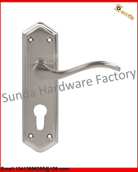 Hotel Single Side Door Handle Locks Hardware With High Quality