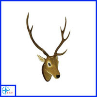 Resin Moose Head Craft Art Animal Head Home Decoration Wall Hanging