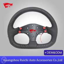genuine leather go kart 250mm steering wheel