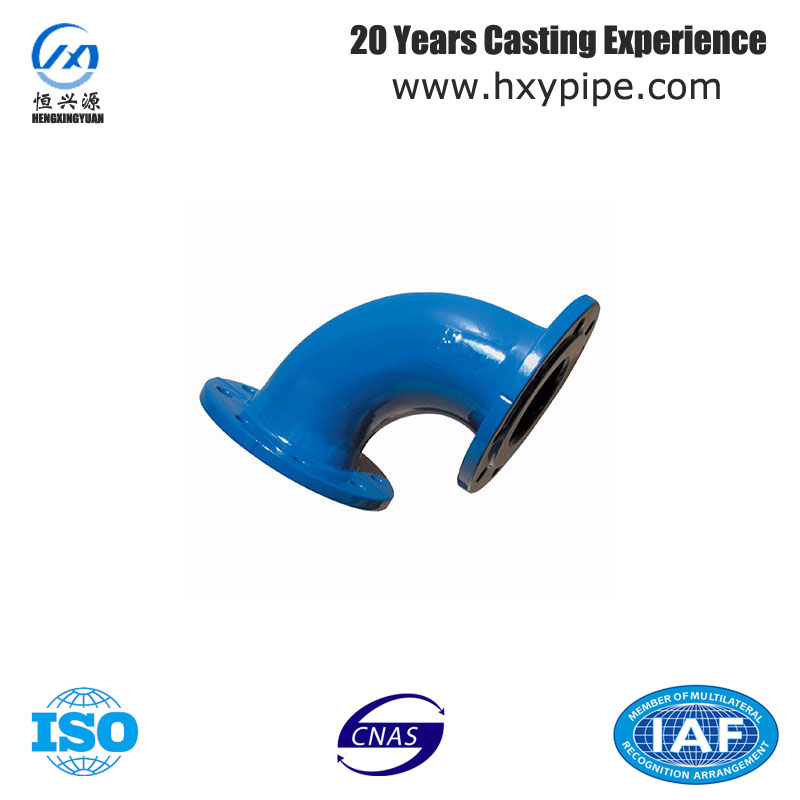 Ductile Iron 45 degree Spherical Graphite Cast IronElbow with Flange