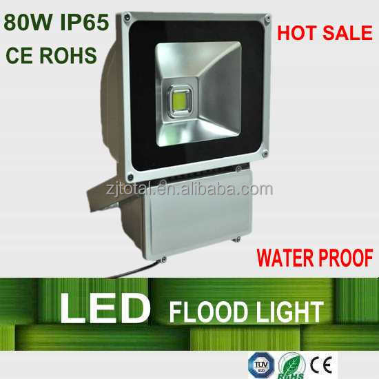 Outdoor waterproof IP65, high power light, 80w led flood light projectors