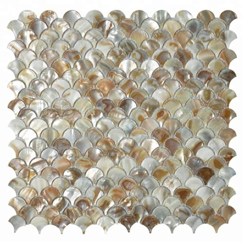Decorstone24 Unique Mosaic Backsplash Tile Seashell Mosaics Fish Scale Design