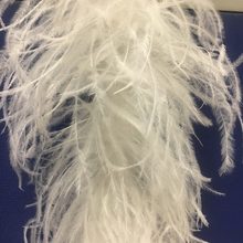 wholesale white 8 plys ostrich feather boa for dancing