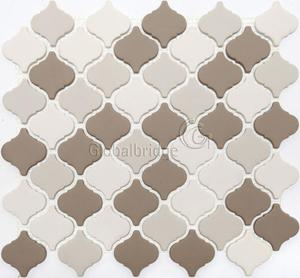 New design fullbody glass mosaic arabesque mosaic tiles backsplash