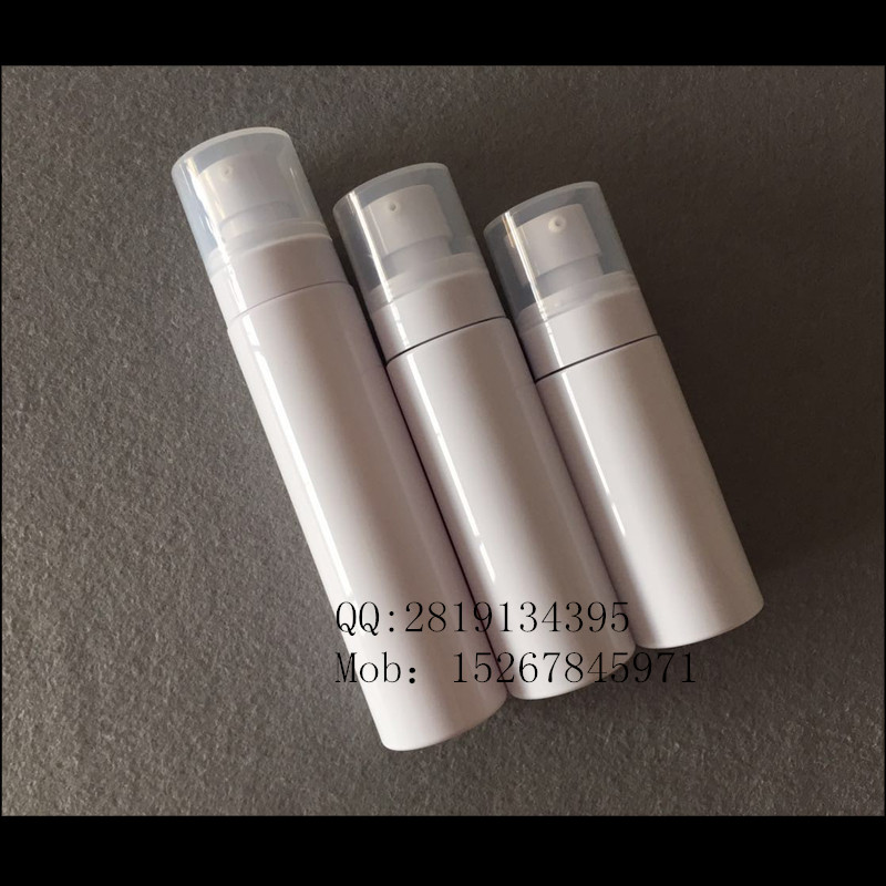 60ml 100ml straight round pet lotion bottle /high end cosmetic cream pump bottle/new design pet make up remover bottle