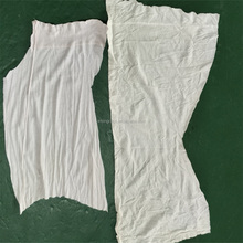 white t shirt cotton 10kg mix bag of industrial rags for Labour protection appliance