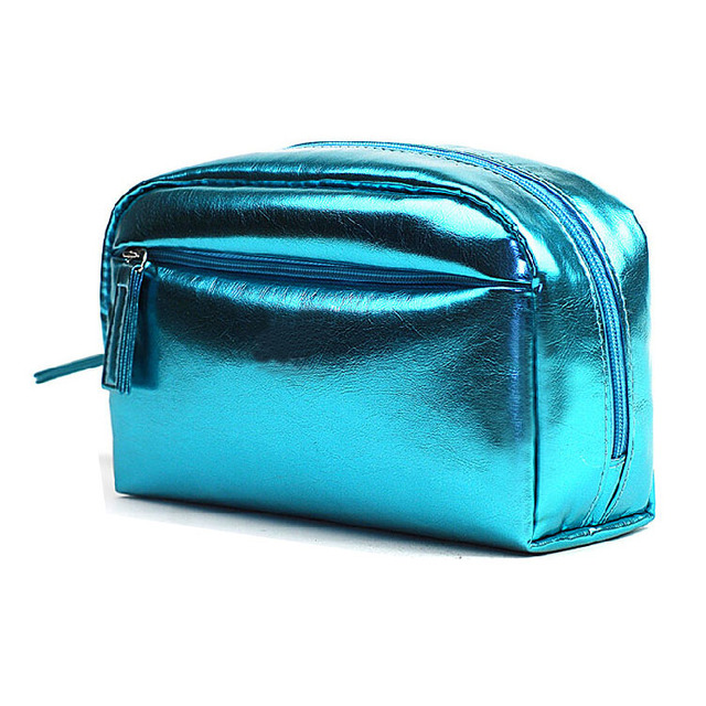 China manufacture fashion eco pu leather travel cosmetic bag make up bag wholesale