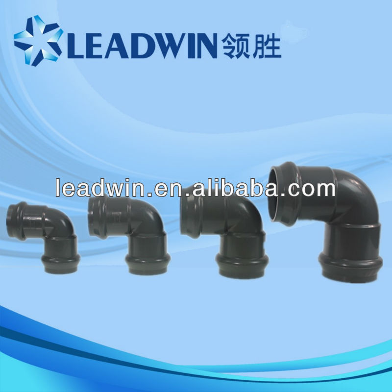 90 Elbows PVC Pipe Fitting Grey with Flexible Joint