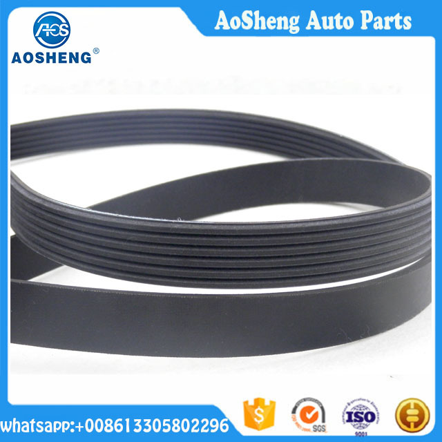 Motor spare parts high quality poly rubber ribbed v belt industrial power belt pk (6PK890)