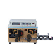 Touch screen electric wire cutting and stripping machine