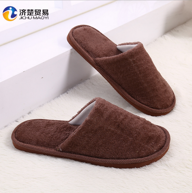 Plush indoor home winter non - slip shoes warm autumn men slippers shoes