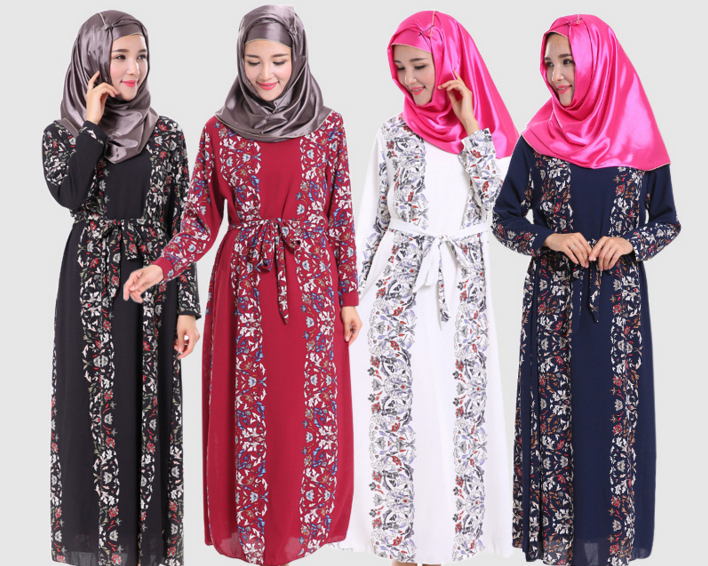 Abaya Fashion Style Elegant Dresses Muslim Women Clothing Plus Size Islamic Clothes Long Abaya Dress