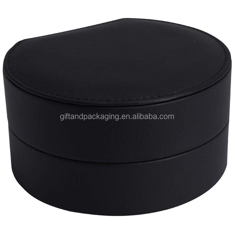 Plastic circle watch box with high quality