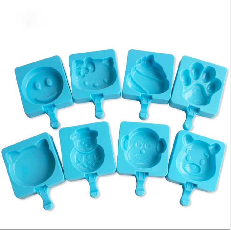 2017 summer cute shapes silicone ice pop tray