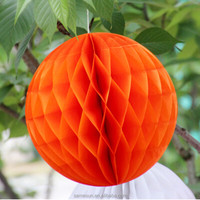 Orange Tissue Paper Flowers balls Poms for Wedding Decoration