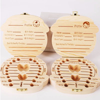 Caoxian Bojia crafts wooden teeth memory box baby tooth box