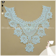 New style pearl water-soluble lace collar fancy embroidery pattern neck design of blouse