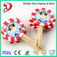 FDA, LFGB, SGS Certification and Birthday Party Art Food Picks Table Decoration